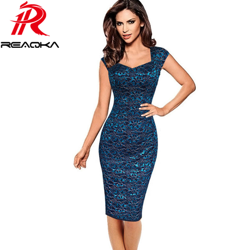 Reaqka 2017 Plus Size Summer Dress Autumn Womens Elegant Embroidery